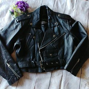 Wilson's Leather Vintage Moto Biker's Jacket